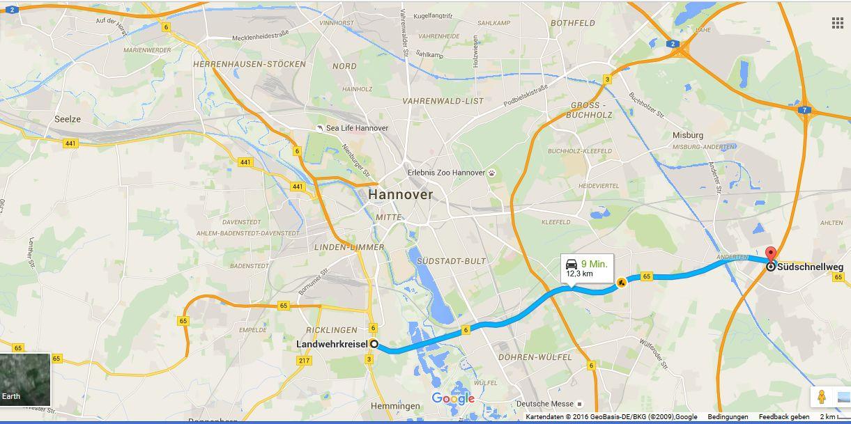 Hannover mit Südschnellweg